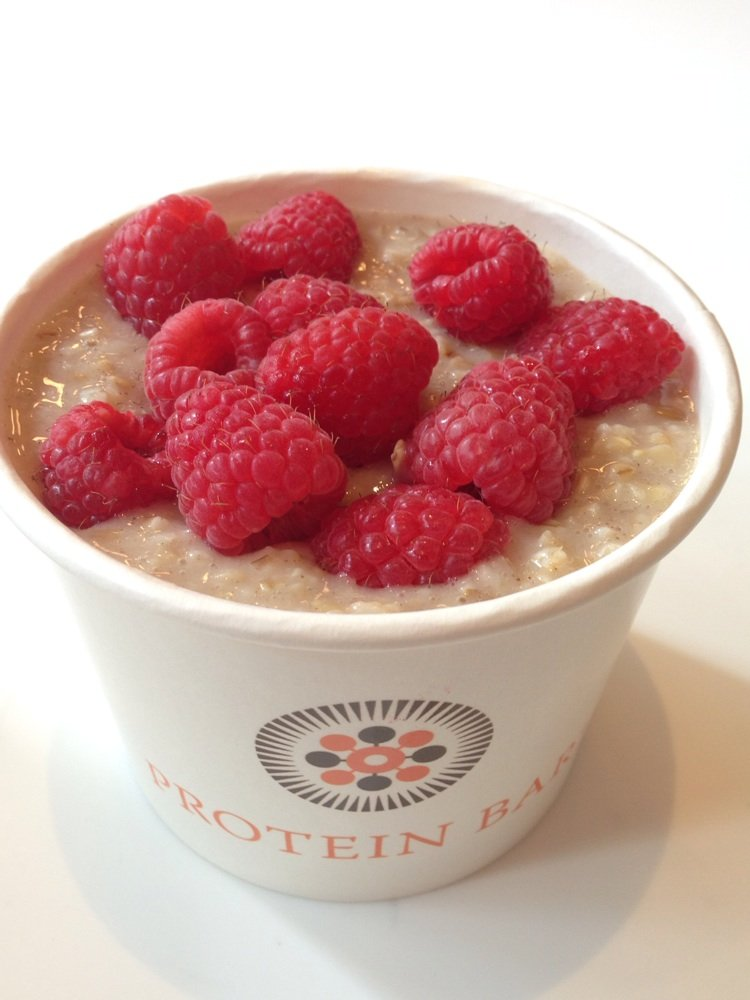 Pancake in a Bowl with raspberries + almond milk | Yelp, Dawn P.