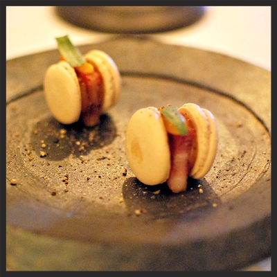 Spago's Bacon Macarons | Yelp, Ivy W.