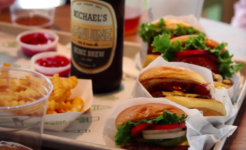 Burgers & beer at Shake Shack