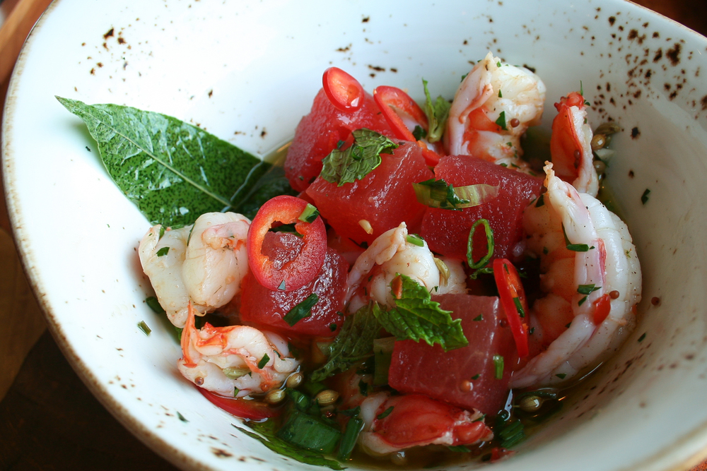 Pickled shrimp at Rapscallion  | Foodable WebTV Network