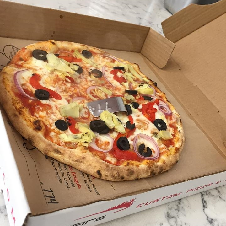 A customized pie from Spinfire | Credit: Facebook/Spinfire Pizza