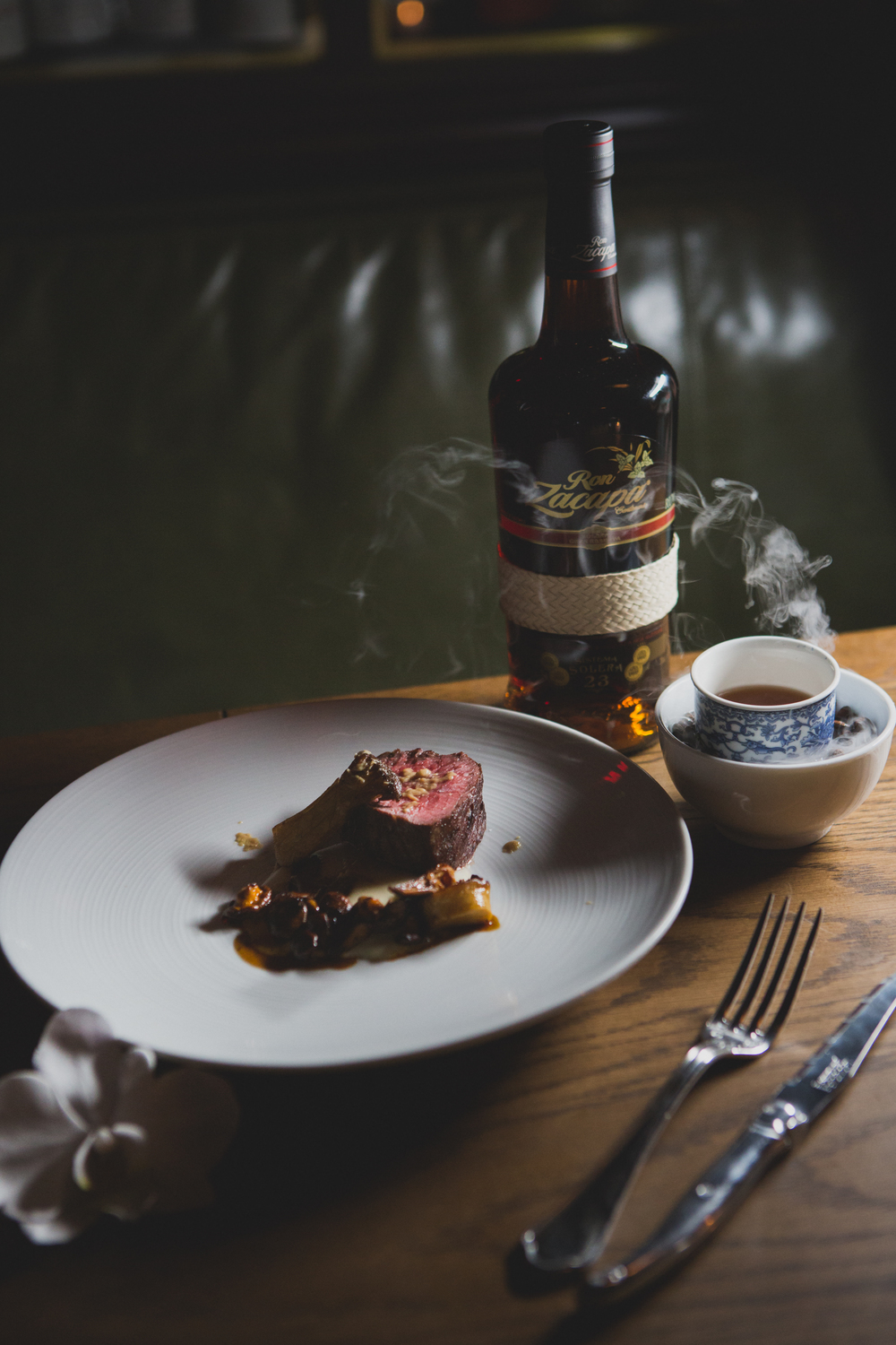 Floral notes course from Zacapa Rum's spirited dinner | Photo Credit: Hunter PR