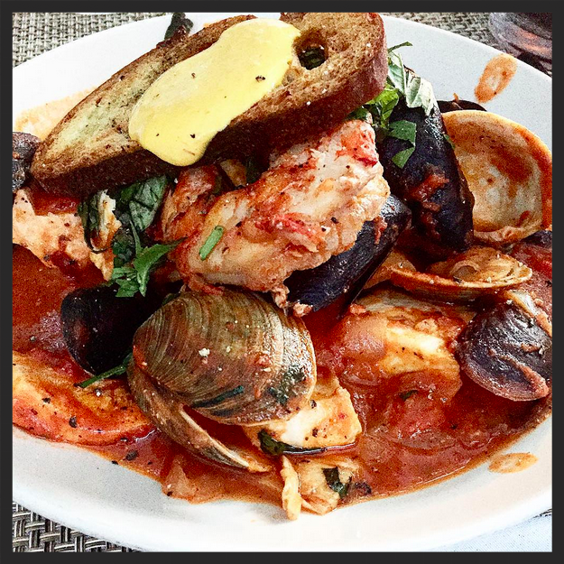Seafood Dish at Tutto Il Giorno | Instagram, @anyasez