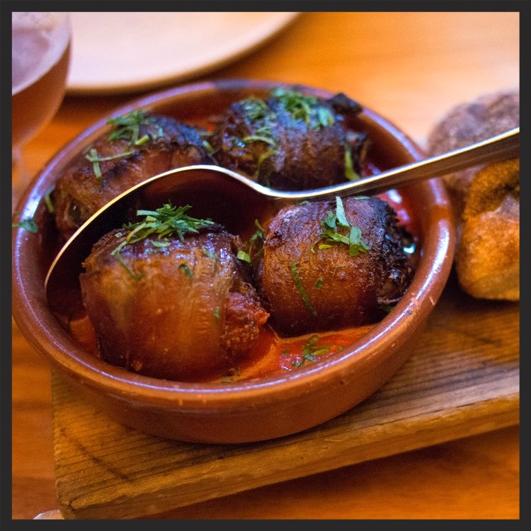Chorizo-Stuffed Medjool Dates wrapped With Bacon at Avec | Yelp, Randy F.