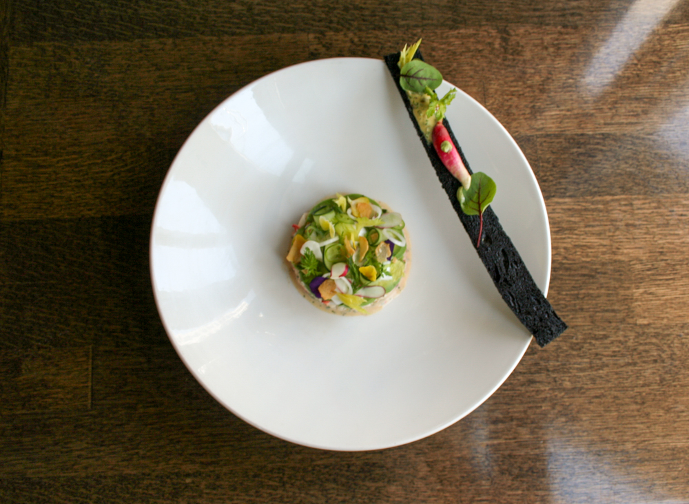 Lobster Salad With Squid Ink Baguette & Gribiche Dressing  | Foodable Network