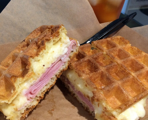 Croque Monsieur waffle at Wicked Waffle | Yelp, Teddy C.