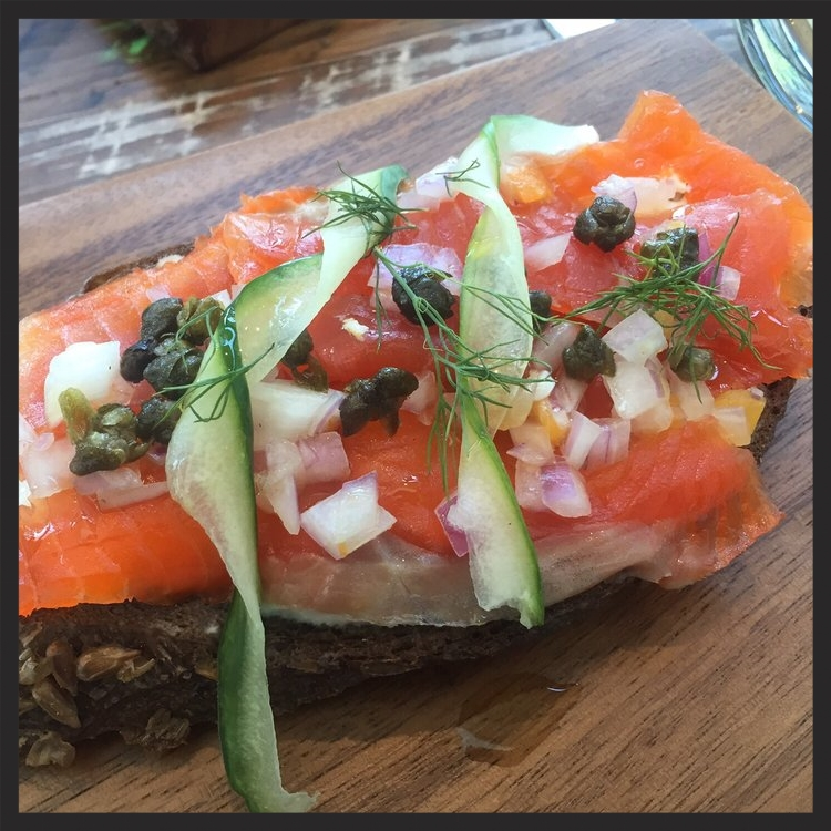 Smoked salmon on toast at Willa Jean  | Yelp, Thuy L.