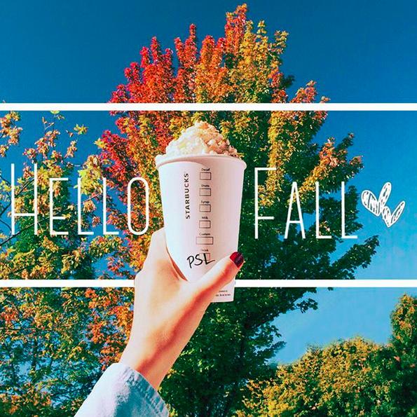 Pumpkin Spiced Latte season  | Credit: Instagram, @starbucks