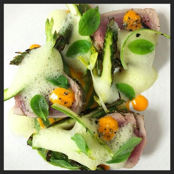 Albacore tuna niçoise at Tongue & Cheek  | Instagram, @jamiederosa