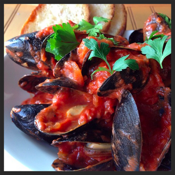 P.E.I. Mussels, salsa brava, fresh herbs at TWO Restaurant  | Instagram, @two_chicago