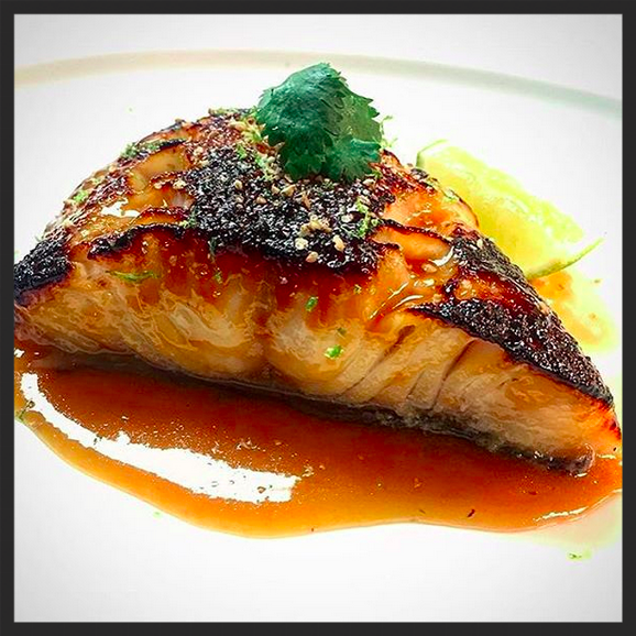 Broiled black cod, toasted sesame, miso glaze at RPM Steak  | Instagram, @rpmsteakchi
