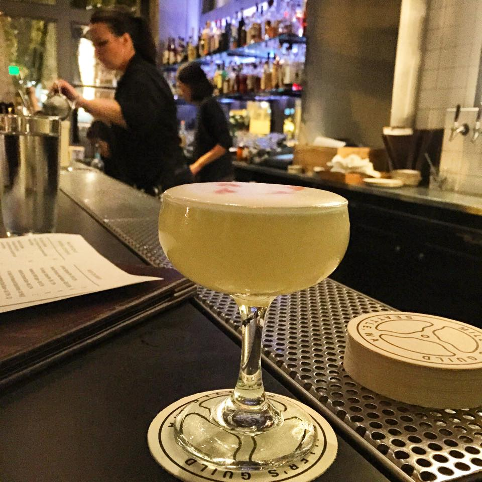 The Rose and Dagger cocktail at Miller's Guild in Seattle  | Natalie Migliarini for Foodable WebTV Network