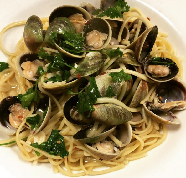 Wild Cockles, linguine, garlic, chilies, wine, parsley  | Instagram @chefdcava