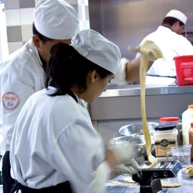 ProStart students making pasta in the classroom  | Brian Murphy for Foodable WebTV Network