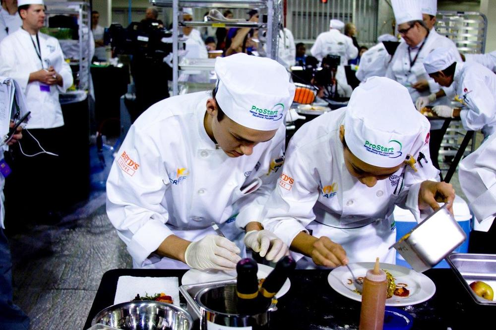 Students plating their food in the ProStart Culinary Cup | Brian Murphy for Foodable WebTV Network