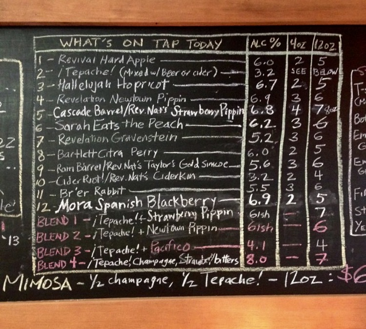 Portland Cider Menu | Instagram, Rev. Nat