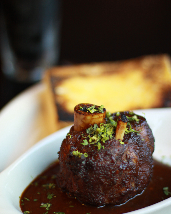 An Osso Bucco dish braised in beer | Brian Murphy for Foodable WebTV Network