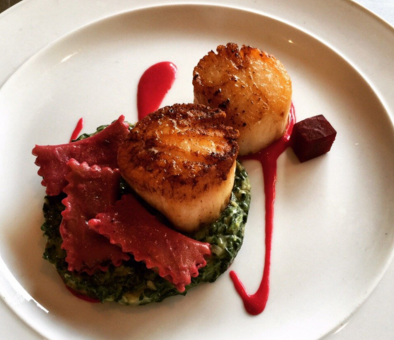 A scallop and wild mushroom dish at 610 Magnolia in Louisville, Kentucky | Credit: Yelp, 610 Magnolia