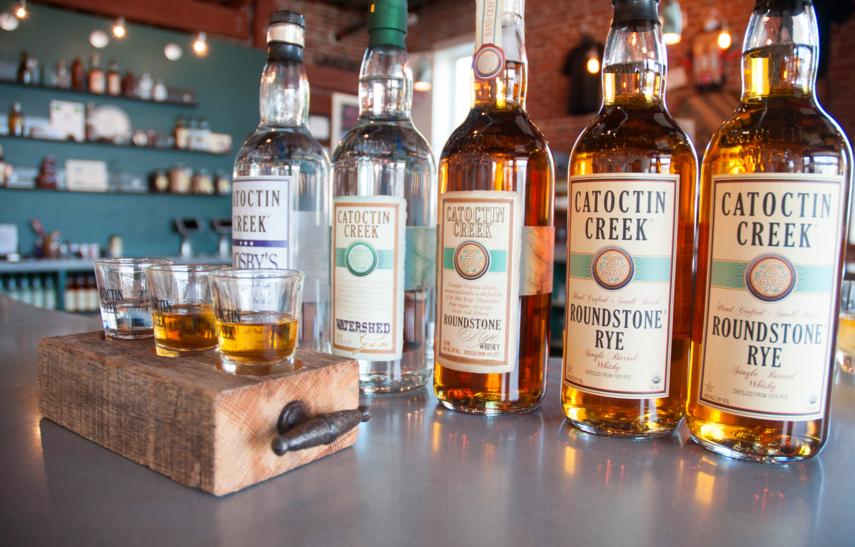 Catoctin Distillery's product line . | Credit: Catocin Distillery