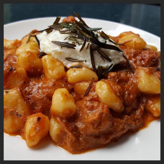 Potato gnocchi with pork ragu, whipped ricotta, and crispy rosemary at Graffiato  | Credit: Instagram @graffiatodc