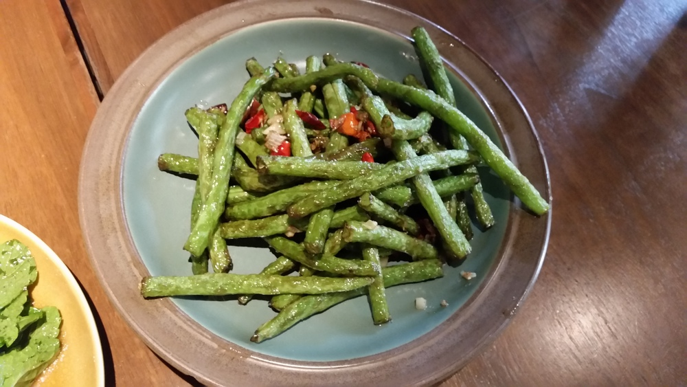 Xinjiang long bean salad at Spice Bazaar  | Credit: Erica Nonni for Foodable WebTV Network