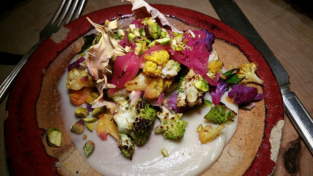 Blackened cauliflower at The Gadarene Swine | Allison Levine for Foodable WebTV Network