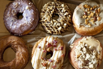 Assorted Gourmet Doughnuts | Brian Murphy for Foodable TV