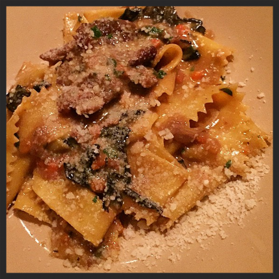 Wild boar pappardelle at Giulia  | Instagram @kdexperience