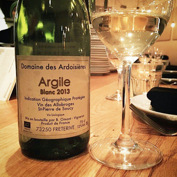 "A light, ""minerally"" white on Fundamental L.A.'s wine list: Ardoisieres Argile Blanc 2013 