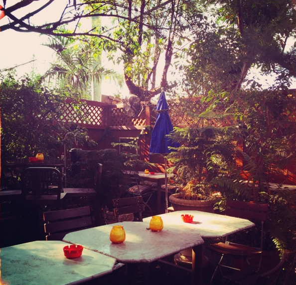 Schnitzel Haus' backyard biergarten hosts live music on weekends  | Instagram @gypsyqdiaries