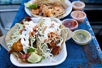 Baja-Style Fish Tacos | Brian Murphy for FoodableTV