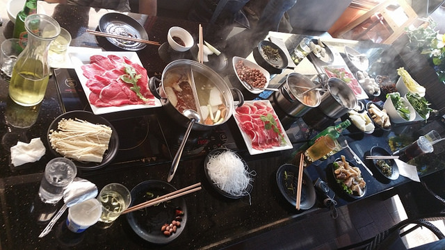 Hot pot at Chengdu Pot in San Gabriel Valley |  Allison Levine for Foodable WebTV Network