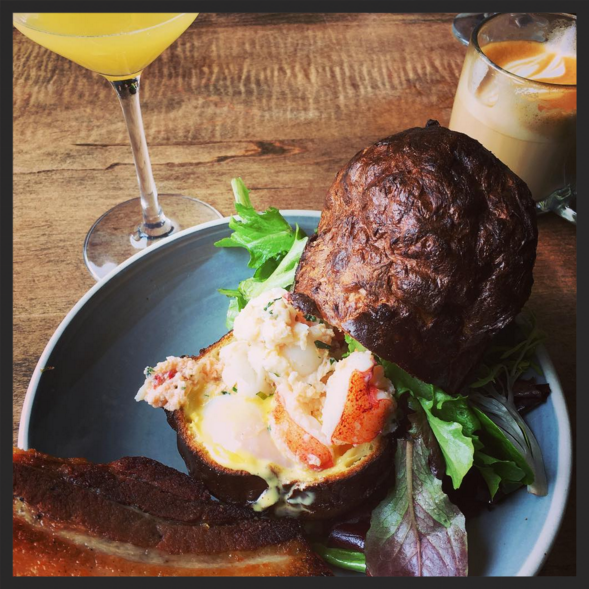 Lobster popover with bacon at Loyal Nine  | Instagram @c_emerson_a