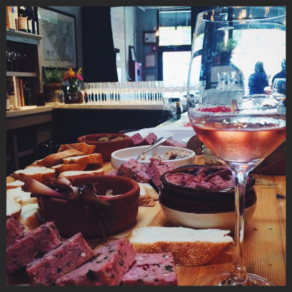 Rosé and charcuterie at Puritan & Company  | Instagram @puritanco