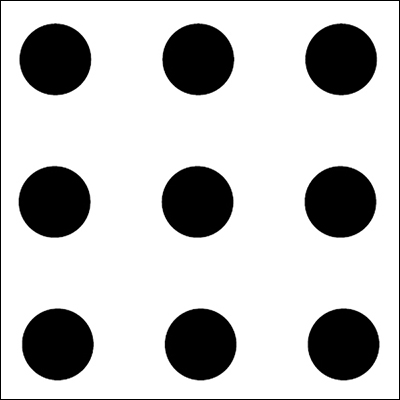 The nine dots puzzle  | Credit: modernindenver.com