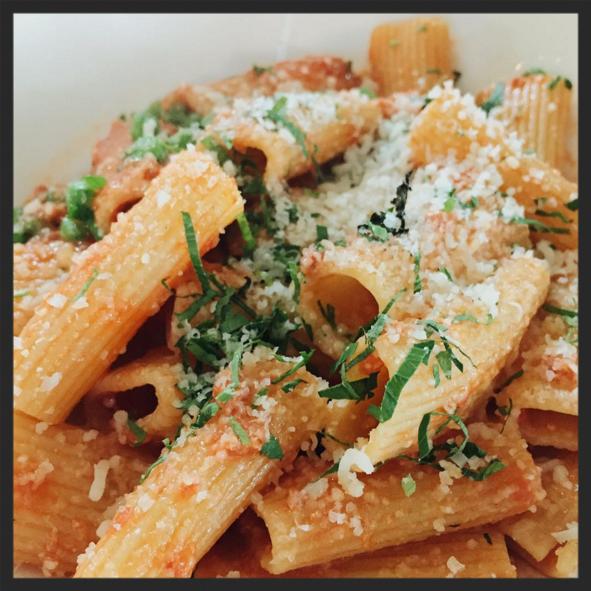 Pasta from Tutto Il Giorno  | Instagram @samsandersss