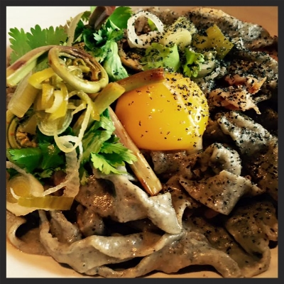 Black Sesame Pasta at Joule  | Facebook