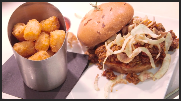 Wild boar sloppy joe with killer spice blend tots