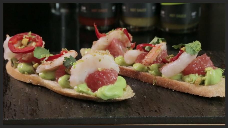 shrimp bruschetta GT fish & oyster