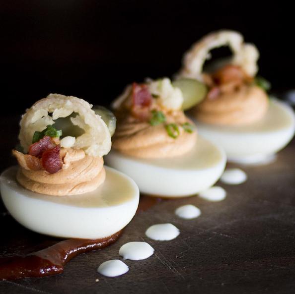 Deviled Eggs  | Instagram @beckettstable