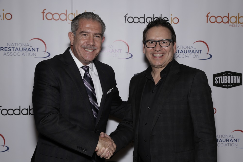 Closing speaker Phil Kafarakis (NRA, Chief Innovation & Member Advancement Officer) and Paul Barron (Foodable, CEO/Founder)