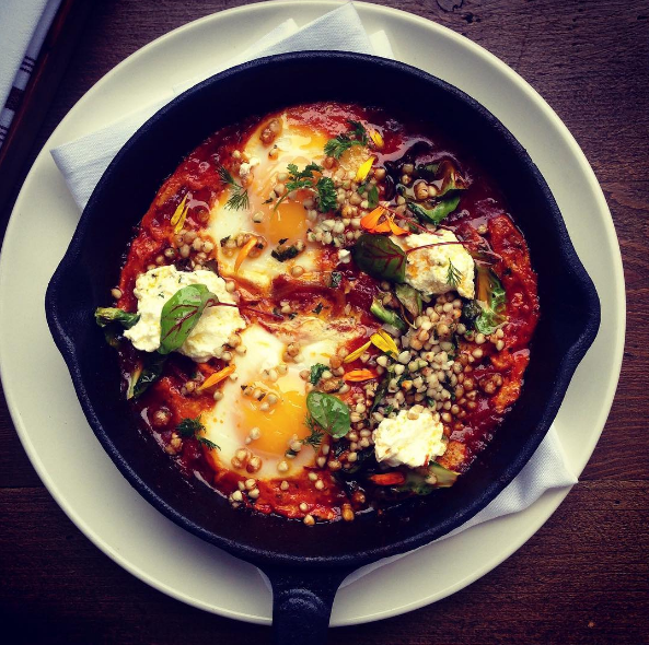 One of Chef Diana Stavaridis' creations, the Shakshuka  |  Instagram @mhousemb