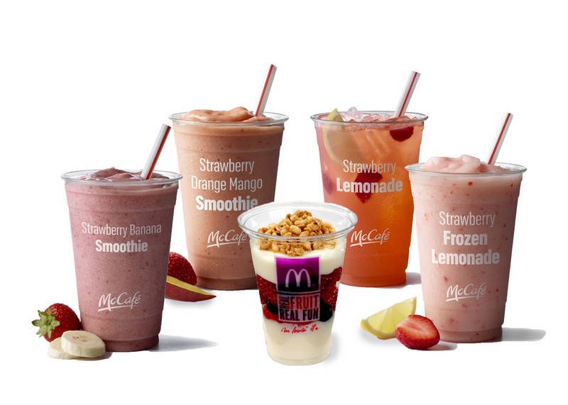 New strawberry themed menu items at McDonald's |  McDonald's