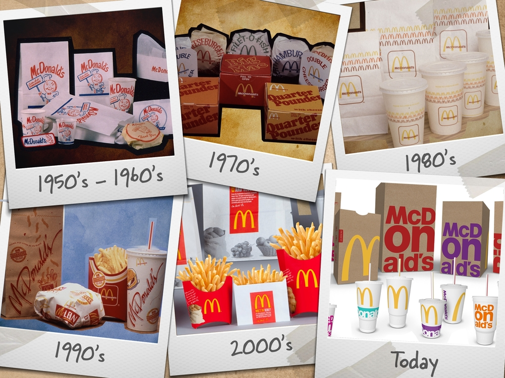 McDonald's packaging through the years |  McDonald's