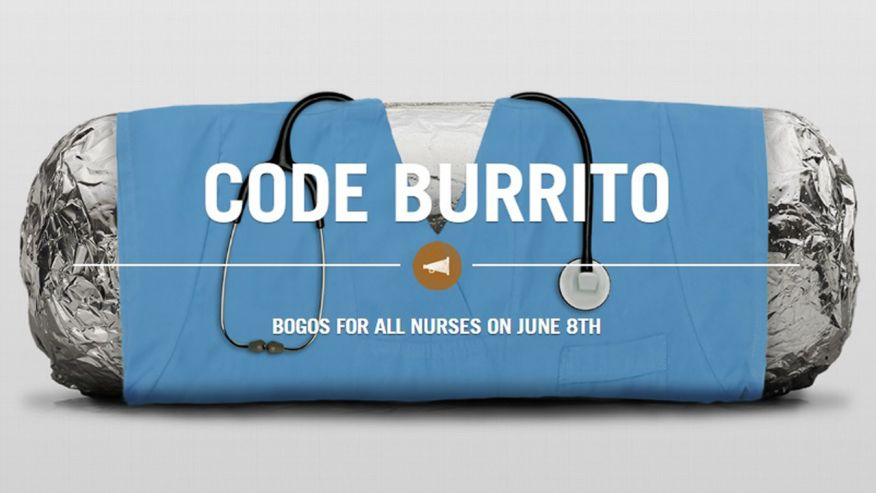 23d100c5e Chipotle Caters to Nurses with BOGO Promotion — Foodable Network