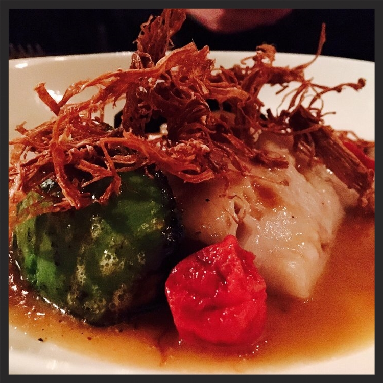 Black Cod with Charred avocado in TOmato Curry Broth AT ink.  | Yelp, Juliet K.
