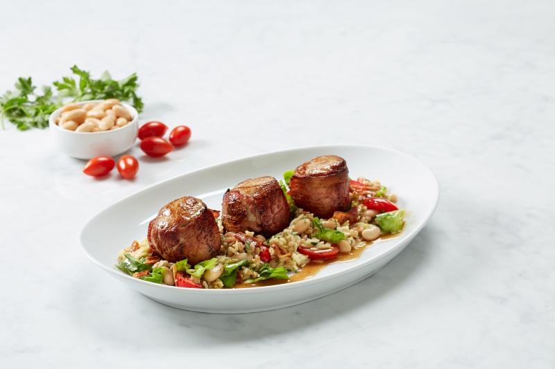 The Prosciutto Wrapped Pork Medallions on BRIO's new menu | BRIO Restaurant Group