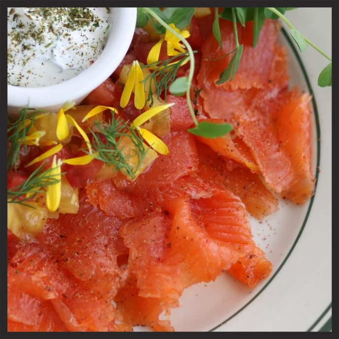 SALMON WITH DILL CREME FRAICHE | Parks & Rec Diner
