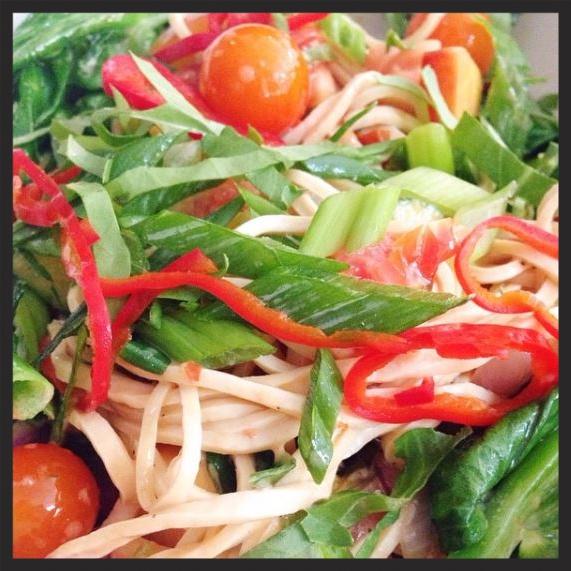 Tofu noodles at Little Goat Diner  | Instagram @littlegoatdiner