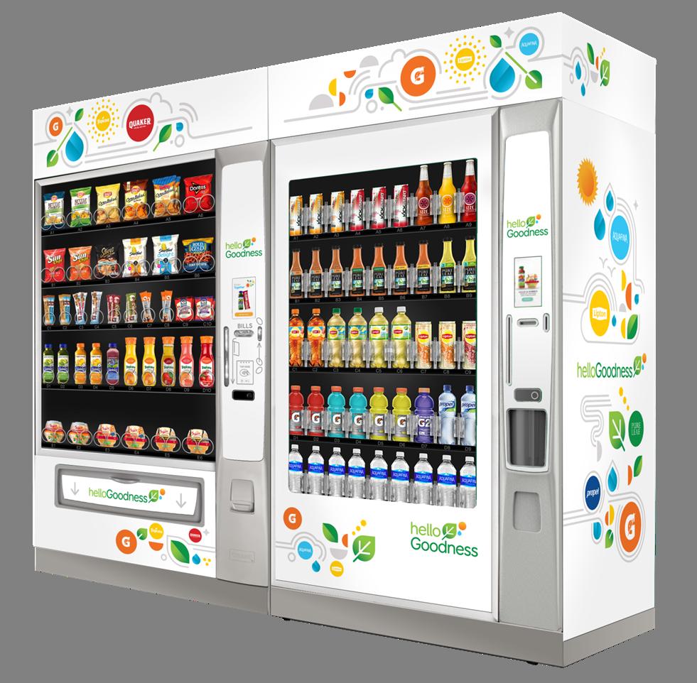 PepsiCo's Hello Goodness vending initiative.